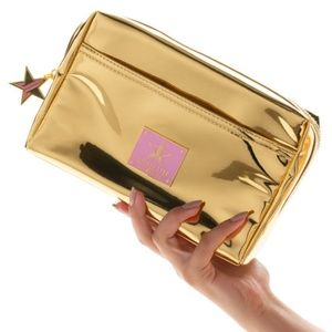 💕Jeffree Star 🌟 Gold Reflective Cosmetic Bag